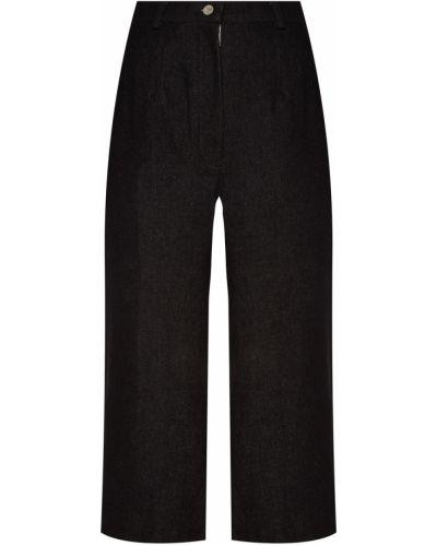 Хлопковые черные брюки с карманами Artem Krivda