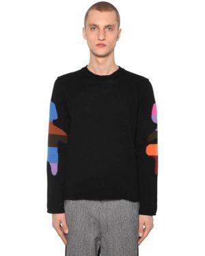 Prążkowany czarny sweter wełniany Comme Des Garcons Shirt