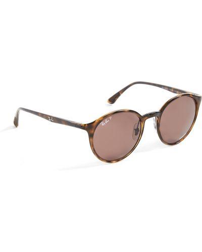 Мягкие фиолетовые солнцезащитные очки круглые Ray-ban