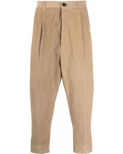 Beżowe spodnie bawełniane Ami Paris