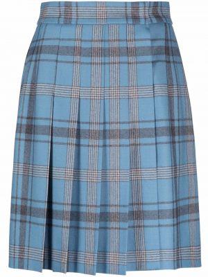 Синяя прямая юбка Alberta Ferretti