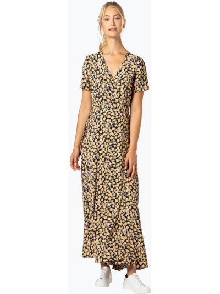 Sukienka długa w kwiaty - niebieska Minimum