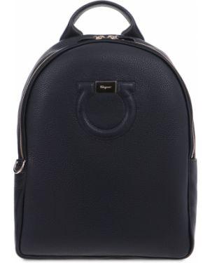 Кожаный рюкзак текстильный на молнии Salvatore Ferragamo
