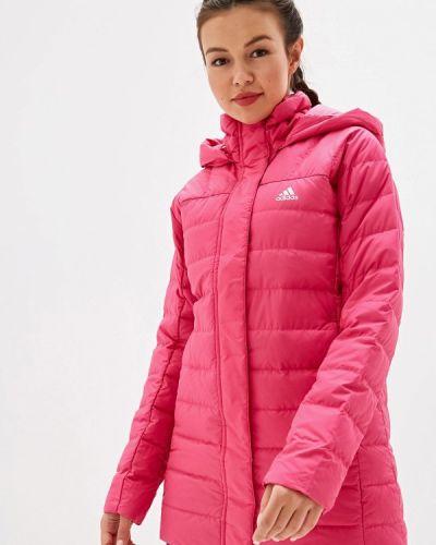Пуховик розовый Adidas