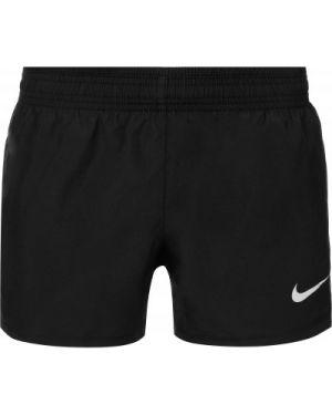 Прямые черные спортивные шорты Nike