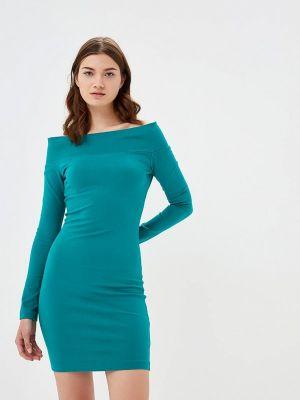 Платье осеннее зеленый Mirasezar