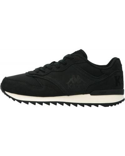 Спортивные черные кроссовки сетчатые со вставками Kappa