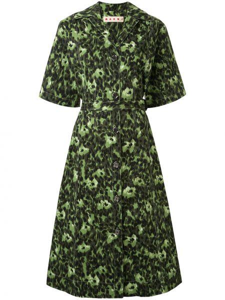 Платье миди на пуговицах платье-рубашка Marni