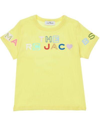 Трикотажная футболка со стразами Little Marc Jacobs