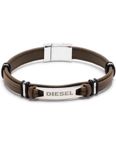 Кожаный браслет - серый Diesel