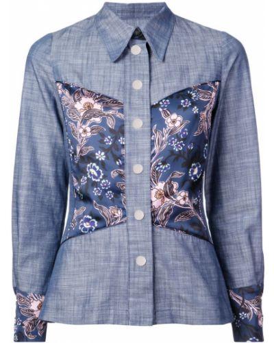 Классическая синяя классическая рубашка на пуговицах Jill Stuart