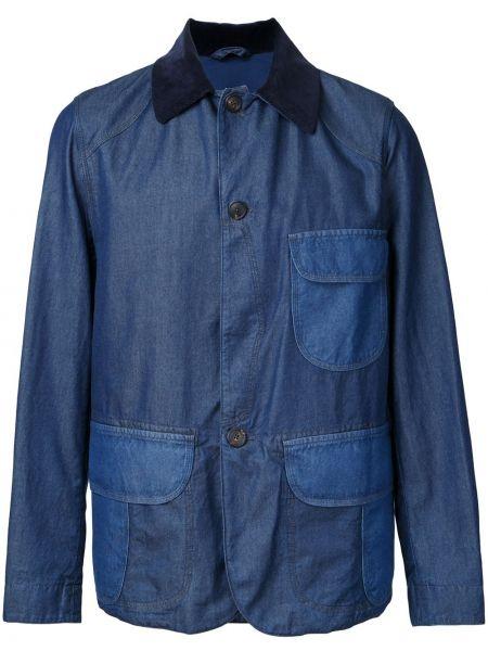 Niebieskie jeansy bawełniane z długimi rękawami Kent & Curwen
