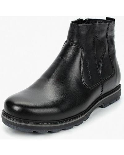 Ботинки осенние кожаные черные Salamander