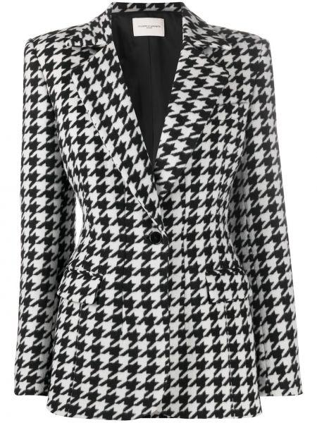 Однобортный черный удлиненный пиджак с карманами Giuseppe Di Morabito