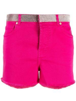 Хлопковые розовые джинсовые шорты с карманами Alexandre Vauthier