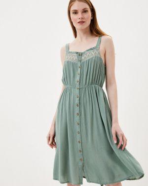 Платье для беременных платье-сарафан зеленый Mama.licious