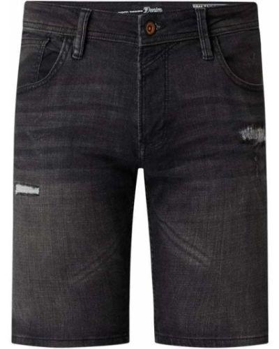 Czarne bermudy jeansowe bawełniane Tom Tailor Denim