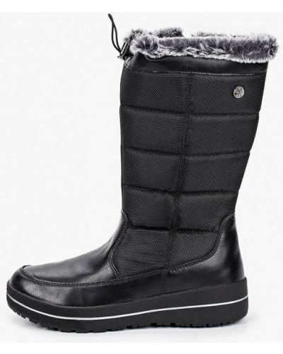 Черные кожаные дутики Caprice