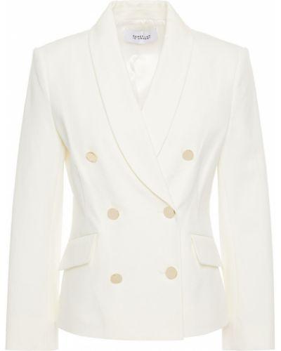 Белый пиджак двубортный с карманами Derek Lam 10 Crosby