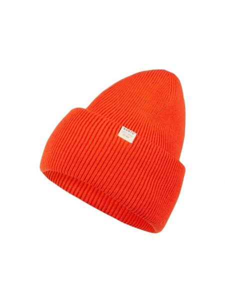 Prążkowana pomarańczowa ciepła czapka Barts