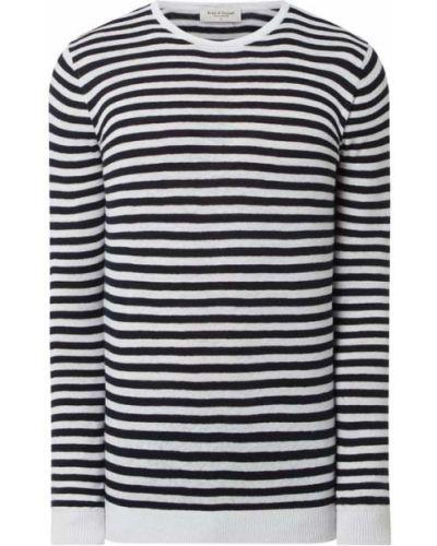 Niebieski sweter w paski bawełniany Bruun & Stengade