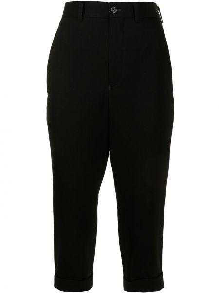 Шерстяные черные укороченные брюки на молнии Comme Des Garçons Comme Des Garçons