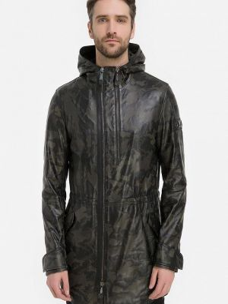 Кожаная куртка - черная Millennials