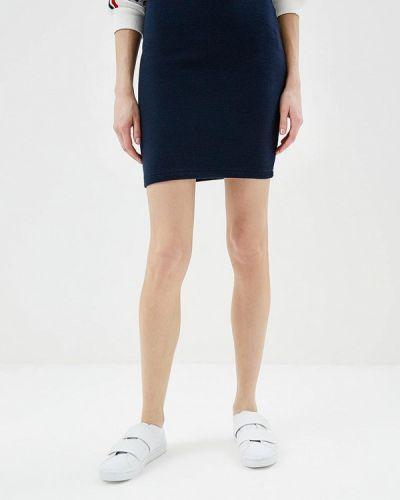 Синяя юбка облегающая Ichi