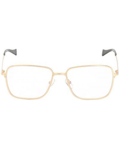 Złote okulary Saturnino Eyewear