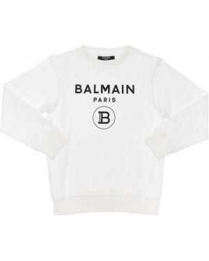 Bluza na szyi z logo Balmain