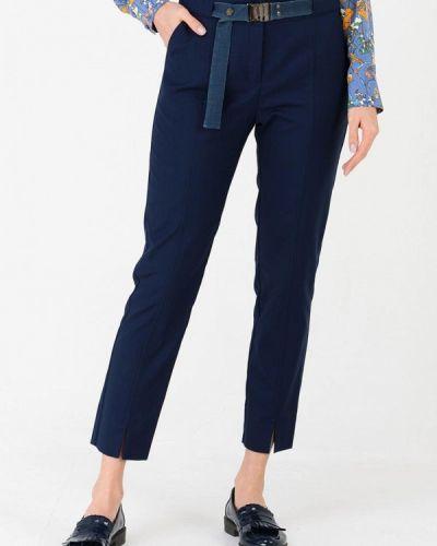Классические брюки весенний синие Ricamare