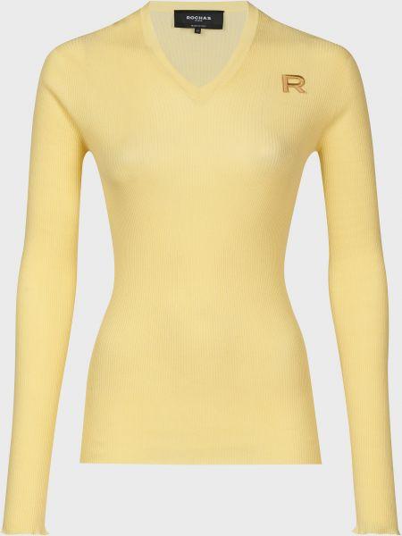 Хлопковый желтый джемпер Rochas