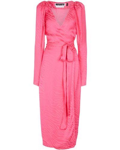 Różowa sukienka z wiskozy Rotate Birger Christensen