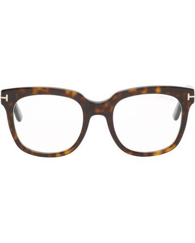 Коричневые очки для зрения квадратные прозрачные оверсайз Tom Ford