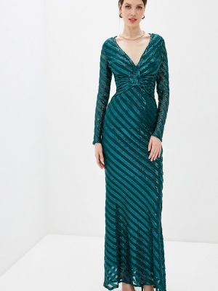 Зеленое вечернее платье Goddiva