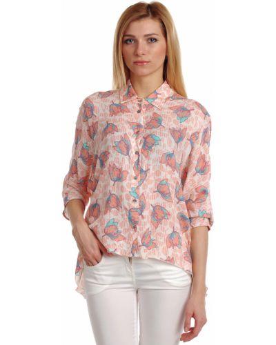 Блузка из вискозы розовый Patrizia Pepe