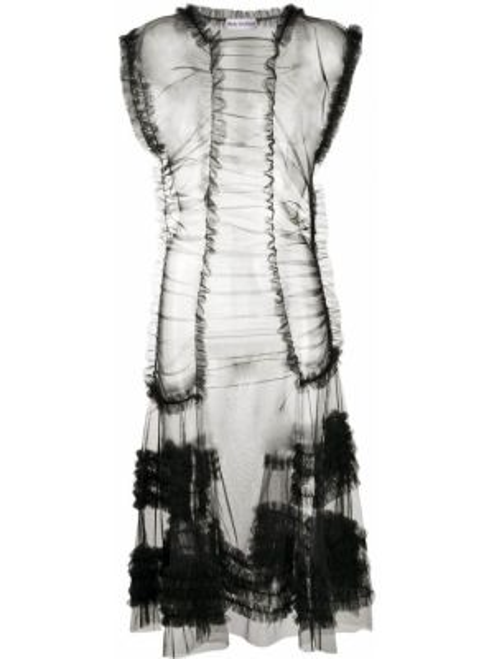 Платье мини миди черное Molly Goddard