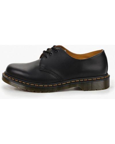 Кожаные ботинки низкие черные Dr Martens