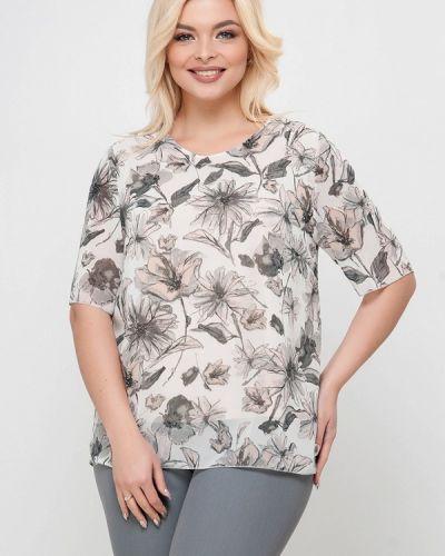 Блузка с короткими рукавами - белая Лимонти