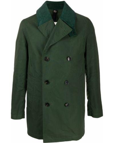 Zielony bawełna płaszcz mackintosh dwurzędowy Mackintosh