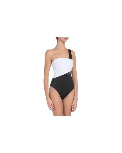Черный слитный купальник Calvin Klein