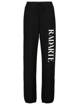 Czarne spodnie bawełniane Rodarte