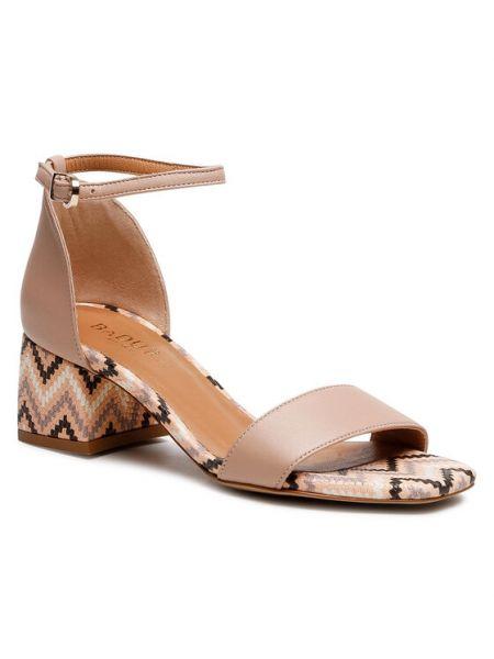 Sandały - beżowe Badura