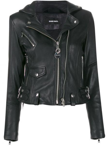 Куртка черная байкерская Diesel