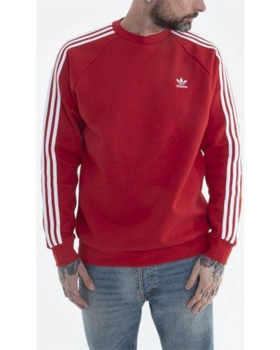 Хлопковая красная кофта в полоску Adidas Originals