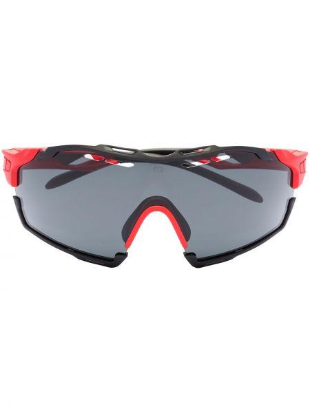Акриловые черные солнцезащитные очки оверсайз Rudy Project