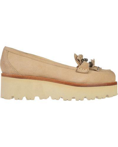 Туфли на каблуке замшевые кожаные Nando Muzi
