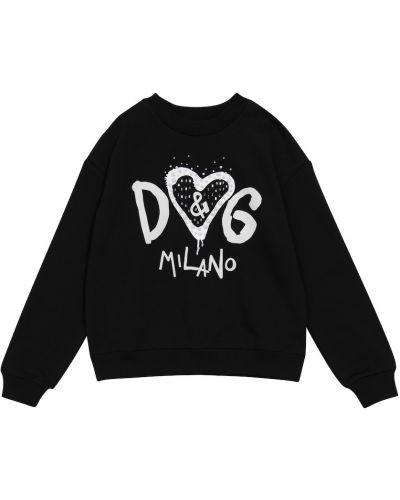 Хлопковый свитшот - белый Dolce & Gabbana Kids