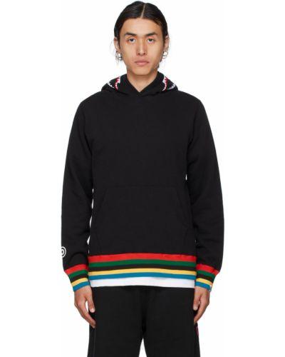 Черный пуловер в полоску Bape