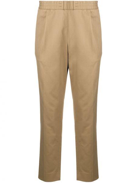 Bawełna spodni spodnie z kieszeniami włosy wielbłąda Moncler